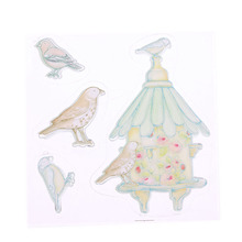 1 Pc DIY Transparent Silicone Rubber Birds Stamps Clear Cling Sheet Scrapbooking Crafts Handmade Photo Cards