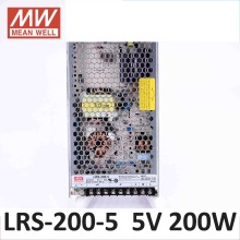 MEAN WELL LRS-200-5 UL power supply 200W 5V AC to DC single output 40A 5V 200W Switching Power Supply Driver for LED Strip light(China)