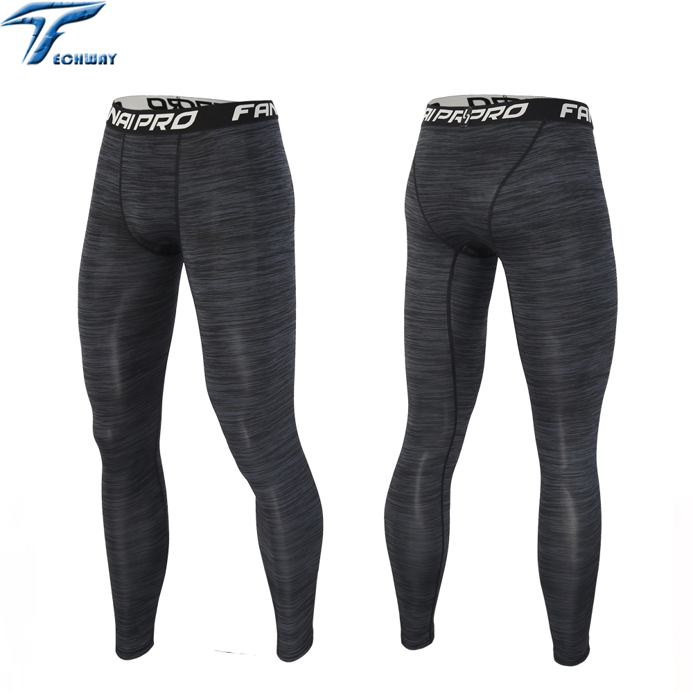 Running tights men compression yoga Basketball tights sports boys fitness leggins pants jogging football training tights running(China)