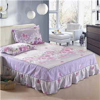 bed skirt 100% cotton reactive printing set bed skirt 50 style bedspread dust ruffle pillowcase bed cover twin full queen