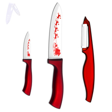 XYj Brand Practical Zirconia Ceramic Knife Set 3 Inch 6 Inch + Peeler Hot Sale Kitchen Knife Non Slip Red Handle Cooking Tools