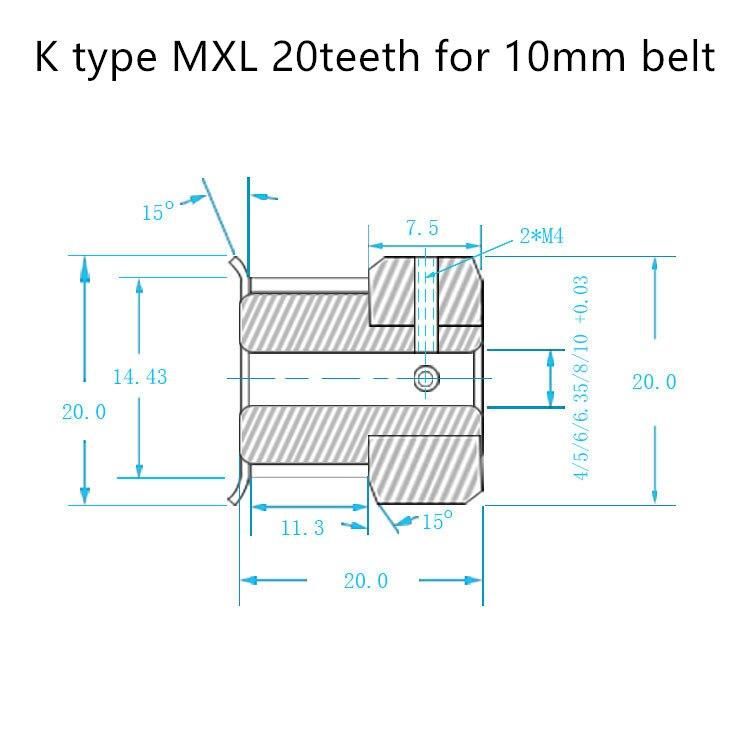 K-MXL-20T-5B-10