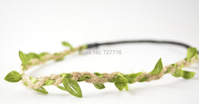 rubber band with leaf garland for DIY flower crown free shipping