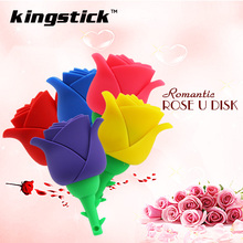Colorful flowers rose U disk USB 2.0 memory stick usb flash drive 8gb 16gb 32gb 64gb 128gb usb pendrive flash stick pen drive