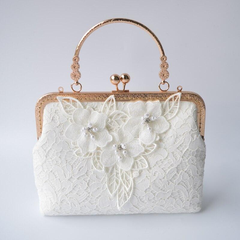 2017 lace bags quality handmade beading chain bag female bag portable messenger bag <br>