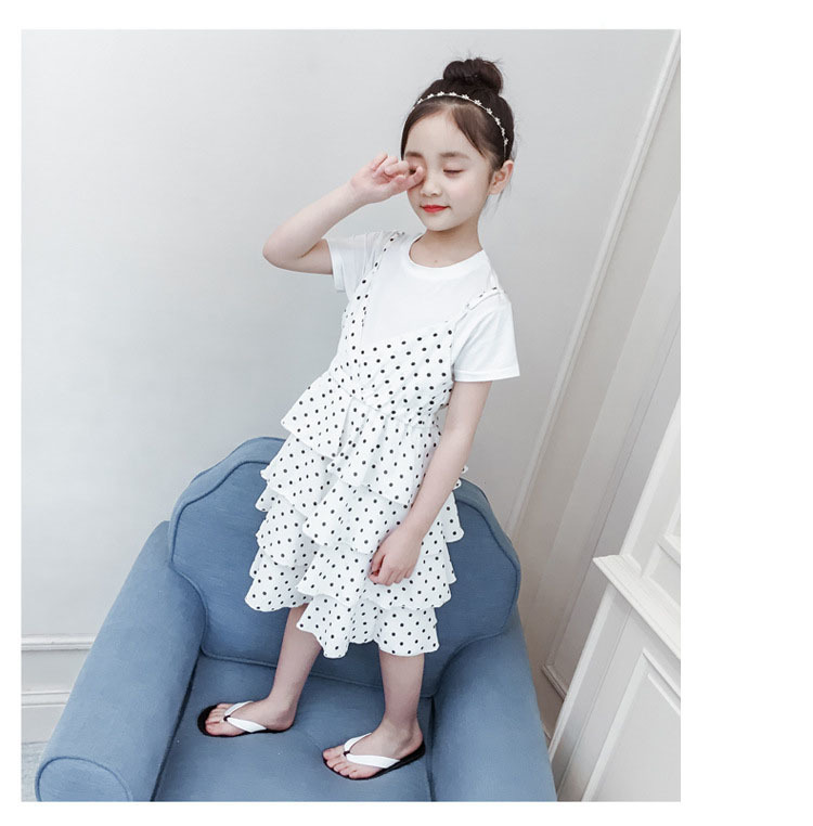 2 Pcs Teenage Girls Clothing Sets Kids Outfits Baby Girls Fashion Clothing Sets Kids Sleeveless Dress And T Shirts Clothes Suits 13 Online shopping Bangladesh