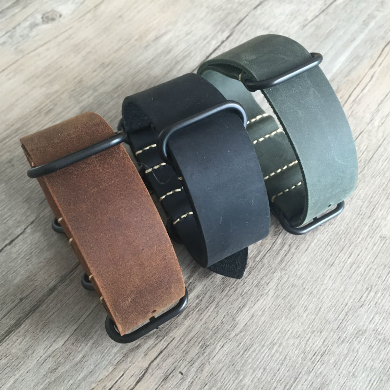 Black green brown Watchband 20mm 22mm 24mm New Mens High Quality Watch Strap Heavy Duty NATO Bands<br><br>Aliexpress