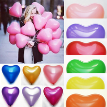10pcs/Lot 10inch Novetly Heart shaped Cute Balloons Pink LATEX Helium Ballon For Party Home Decoration Event Decoration Toys