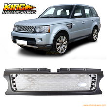 For 2010-2013 Range Rover Sport Front Black Silver ABS Mesh Grille Fender Air USA Domestic Free Shipping