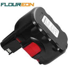 FLOUREON BAT038 14.4V 2000mAh Rechargeable Battery Pack Power Tools Battery Cordless Drill Replacement for Bosch 3660CK Ni-CD