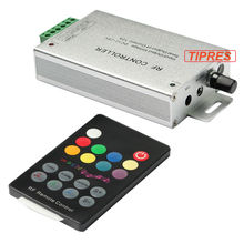 18 Key RGB Led Music Controller DC12V 24V Audio Sound 3 Channel*4A 12A RF 433.92mhz Wireless Remote to Control Strip Light(China)