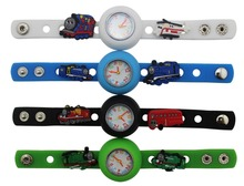 1 piece Diy cute  silicone kid Wristwatch watch with 10pieces Thomas & Friends shoe charms kid party gift