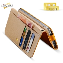 KISSCASE Universal 5.1 Phone Case For iPhone 7 5s SE 5 6 6S Samsung Galaxy S7 S6 S5 S4 S3 J2 HTC One M8 M9 Sony Leather Wallet