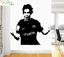 Messi Football Star Barcelona Quote Wall Stickers Art Room Removable Decals Room Bedroom
