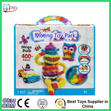 2016 Magic Puffer Ball 400 Pieces Accessories Build Mega Pack Animals DIY Assembling Spot Best Block Toy Sets For Children(China)