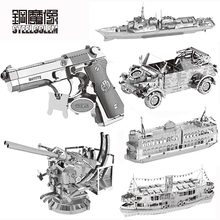 High-quality MIni Beretta 92 SUV Series 3D Puzzle Metal Laser Cut Model Jigsaw DIY Gift Toys For Children Educational Decoration(China)