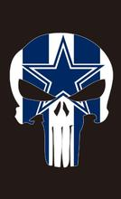 Dallas Cowboys football flag bright color 90*150 CM Digital Printing 100D Polyester with sleeve two metal Brass skeleton flag(China)