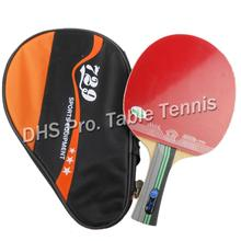 RITC 729 3-star 3star 3 star pips-in table tennis pingpong racket + a bat case Shakehand long handle FL