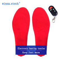 Heating Insoles with Battery women Shoes Boots Pad Winter Wireless EUR Size 35-40# 1800mAh(China)