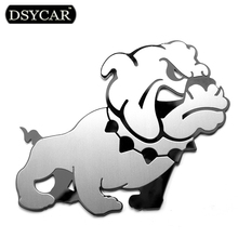 DSYCAR 1Pcs 3D Metal Bully Dog Car Stickers Logo Emblem Badge Decals Car Styling Decoration accessories for Ford BMW Audi Lexus