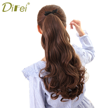 Buy DIFEI Long Wavy Ponytail Hairpieces Women Heat Resistant Fake Hairstyles Long Wavy Flip Clip Hair Extensions Hair for $4.00 in AliExpress store