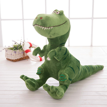 about 45x40cm cartoon green dinosaur plush toy soft pillow birthday gift b0712(China)