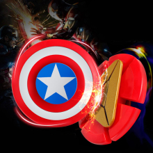 Buy Avengers Iron Man Fidget Spinner Captain America Shield Finger Spiner EDC Hand Spinner Anxiety Stress Relief Toys Kid#E for $1.99 in AliExpress store