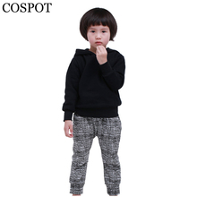 Buy COSPOT Baby Boys Girls Hoodies Boy Girl Plain Black Sweatshirt Kids Autumn Spring Coat Children Fashion Tops Jacket 2017 New 30F for $8.86 in AliExpress store