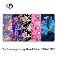 Brilliant Rose Peony Beautiful Flower Floral Drawing Hard Plastic Case For Samsung Galaxy Grand Prime G530 Skin Back Cover