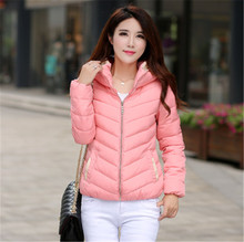 Winter coat jacket Fasion  women parkas short thickening slim down cotton-padded jacket  outerwear female