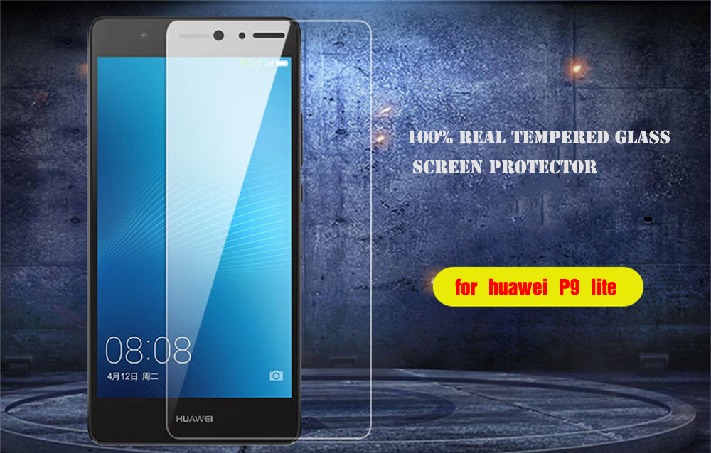 100% Real Tempered Glass For Huawei P6 P7 P8 P9 lite Honor 4X 5C 5A 6 6X 7 8 Screen Protector Scratch Proof Protective Film HD (7)