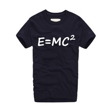 Big Bang theory of evolution Einstein mass energy equation E = mc ^ 2 Printed Mens T Shirt 2017 New Styles Short Sleeve T-shirts(China)