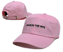 made in the 90s Baseball cap Hip Hop skateboard brand snapback golf hats Women Pink Dad Hat bone casquette de marque gorroas