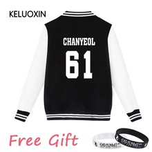 KELUOXIN 2017 New Arrivals EXO Kpop Zip-up Harajuku Hoodies Fans Supportive BTS Baseball Uniform Men Women Casual Sweatshirt 4XL