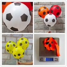 50pcs /lot Football printing balloon high quality round balloons white red orange party decorations(China)