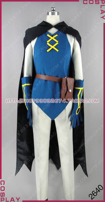 Pokemon Pocket Monster Lucario and the Mystery of Mew Sir Aaron Cosplay Costume S002