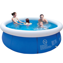 Summer Inflatable Swimming Pool PVC Water Sports Baby Kids Family Garden Play Pools Big Portable Round Swimming Pool Blue(China)