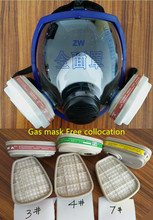 6800 7pcs suit Gas Mask Full Face Facepiece Respirator For Painting Spraying free shipping(China)