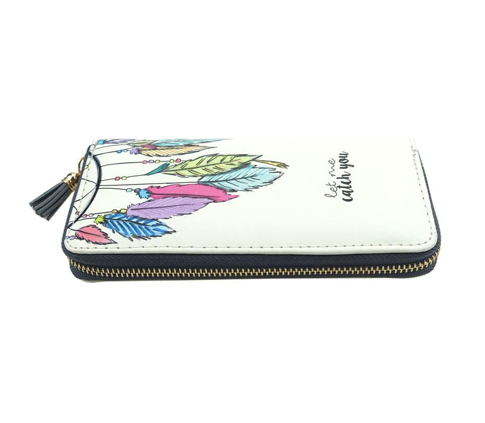 HTB1yKWhRFXXXXcvXVXXq6xXFXXXh - TZECHO Women Wallets PU Print Dream Catcher Carton Long Ladies Purses Coin Pocket Card Holder Clutch Zipper Wallets for Women