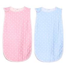 Cartoon Newborn Baby Sleeveless Sleeping Bag Soft Cotton Dots Printed Infant Anti Kick Quilt Sleep Sack