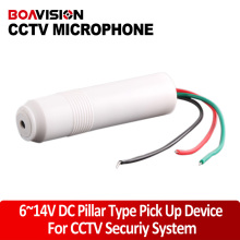 CCTV Microphone Pillar High Sensitive Microphone For Camera Audio Surveillance DVR CCTV Mic Audio Cable Audio Receiver