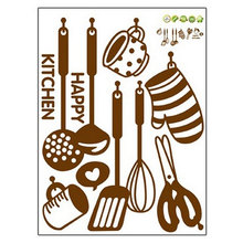 New Cute Cotton Kitchen Wall Sticker Removable Cooking Utensil Spatula DIY Wall Art Decal Kitchen(China)