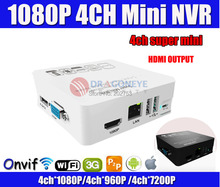 Super Mini NVR ONVIF 4CH 1080P Network HD Video Recorder 3G WIFI Audio Input HDMI Output P2P H.264 P2P Easy Access