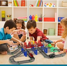 1 Set Train Toys Track Toy Baby educational toys Electric Rail Train play set birthday gifts kids toys for children brinquedos(China)