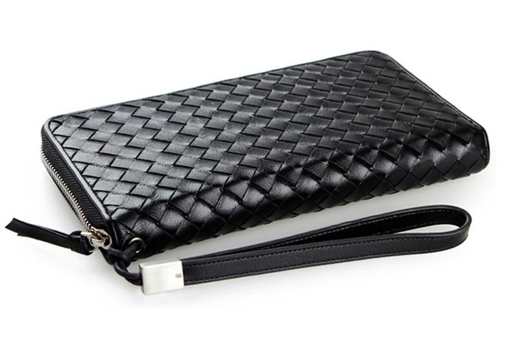 Genuine leather large capacity  wallet, designer long wallet, day mens soft leather clutch bag wrist wallet<br>