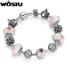 Hot Sale Silver Crown Charm bracelet for Women Beads Jewelry Fit Original Bracelets Pulseira Gift XCH1438(China)