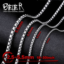 2.5MM-5.5MM Wholesale Lots 316L Stainless Steel Pearl Necklace Pendant Match Sweet Chain For Man Woman Cheap BN1010