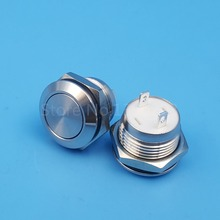 12mm Stainless Steel 2Pin 1NO Momentary Mini Push(Click) Button Switch Short Body