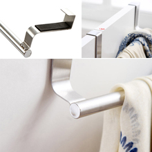 Stainless Steel Portable Kitchen Hook Towel Rail Bathroom Storage Tools Cabinet Hanger