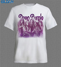 Funky T Shirts Regular Short O-Neck Mens Deep Purple Band Rock N' Roll Music Tee Shirt